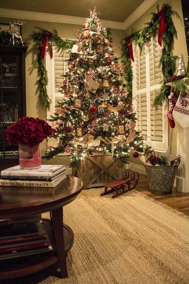 Dekorowanie domu na święta - choinka stół wigilijny dekoracje świąteczne 01