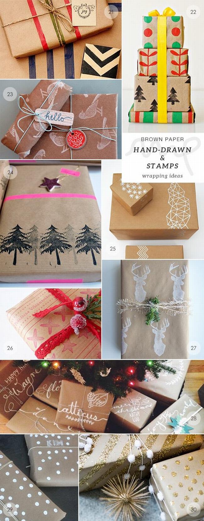 pakowanie prezentów na swięta prosto i modnie 1201