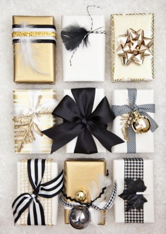 pakowanie prezentów na swięta prosto i modnie 401