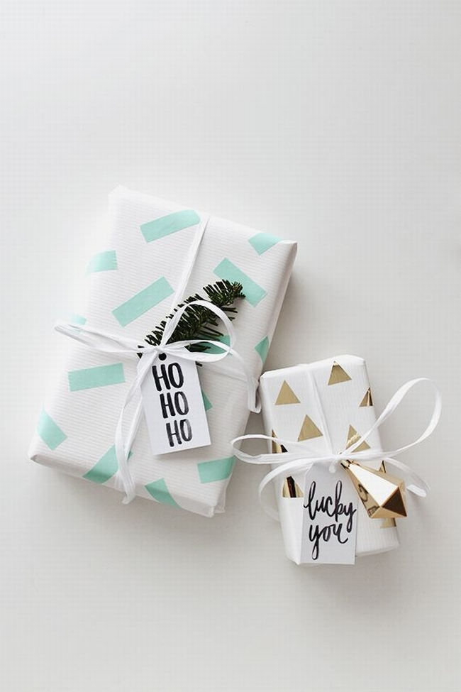 pakowanie prezentów na swięta prosto i modnie 801