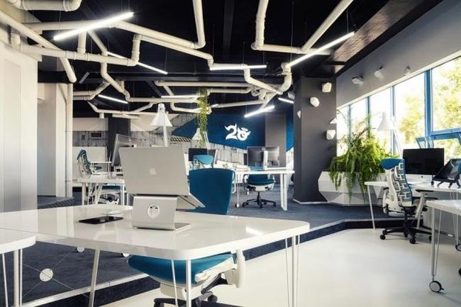 biuro wnętrze biurowe aranżacja biura biura wielkich korporacji inspiracje 07