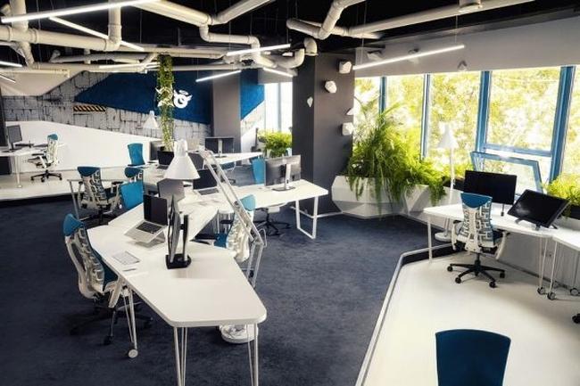 biuro wnętrze biurowe aranżacja biura biura wielkich korporacji inspiracje 16
