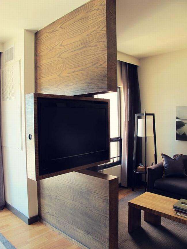 jak ukryć telewizor w salonie ukryty telewizor we wnętrzu w domu inspiracje design pomysły rozwiązania 07