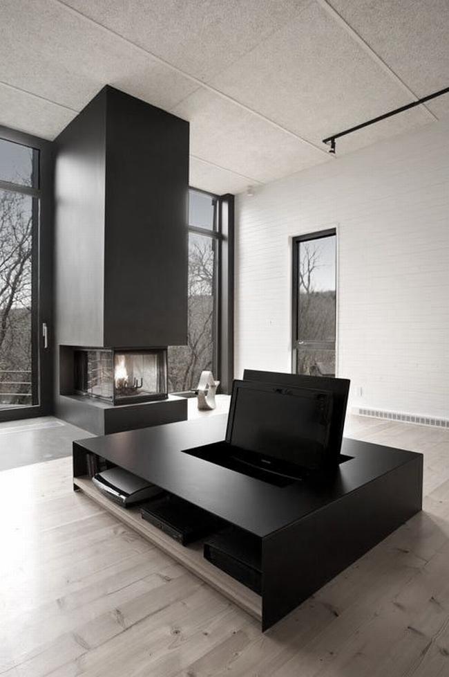 jak ukryć telewizor w salonie ukryty telewizor we wnętrzu w domu inspiracje design pomysły rozwiązania 10
