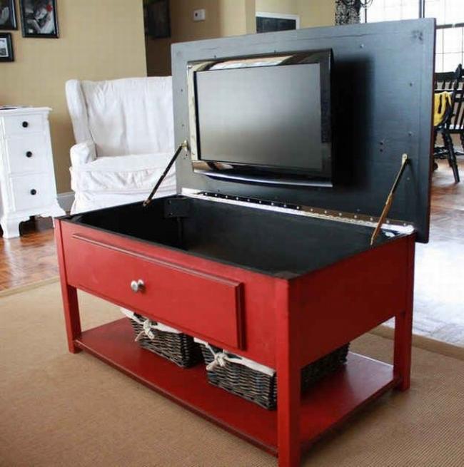 jak ukryć telewizor w salonie ukryty telewizor we wnętrzu w domu inspiracje design pomysły rozwiązania 16