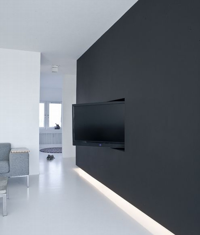 jak ukryć telewizor w salonie ukryty telewizor we wnętrzu w domu inspiracje design pomysły rozwiązania 19