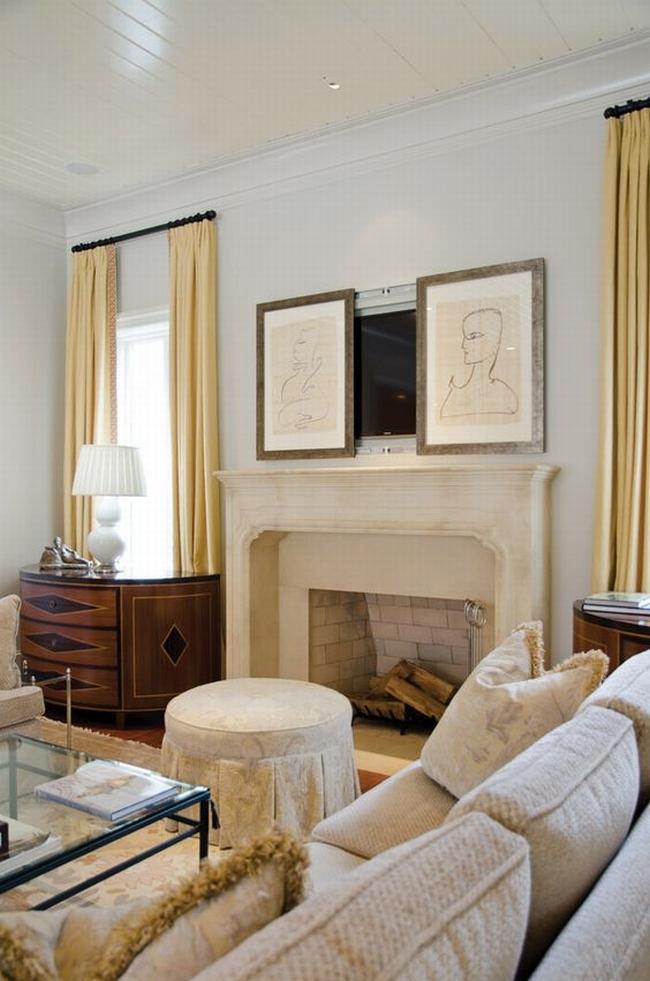 jak ukryć telewizor w salonie ukryty telewizor we wnętrzu w domu inspiracje design pomysły rozwiązania 21
