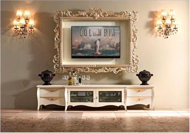jak ukryć telewizor w salonie ukryty telewizor we wnętrzu w domu inspiracje design pomysły rozwiązania 33