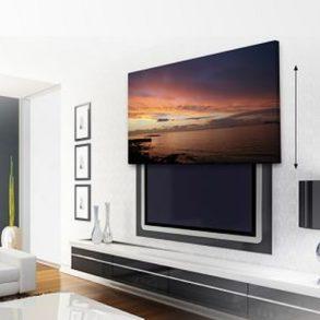 jak ukryć telewizor w salonie ukryty telewizor we wnętrzu w domu inspiracje design pomysły rozwiązania 41