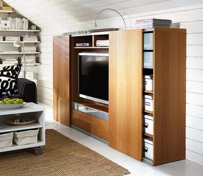 jak ukryć telewizor w salonie ukryty telewizor we wnętrzu w domu inspiracje design pomysły rozwiązania 53