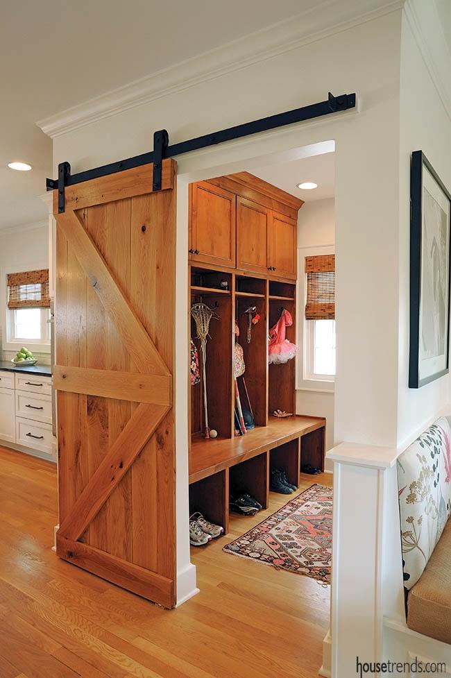 korytarz wejściowy amerykański dom mudroom inspiracje projekt 03
