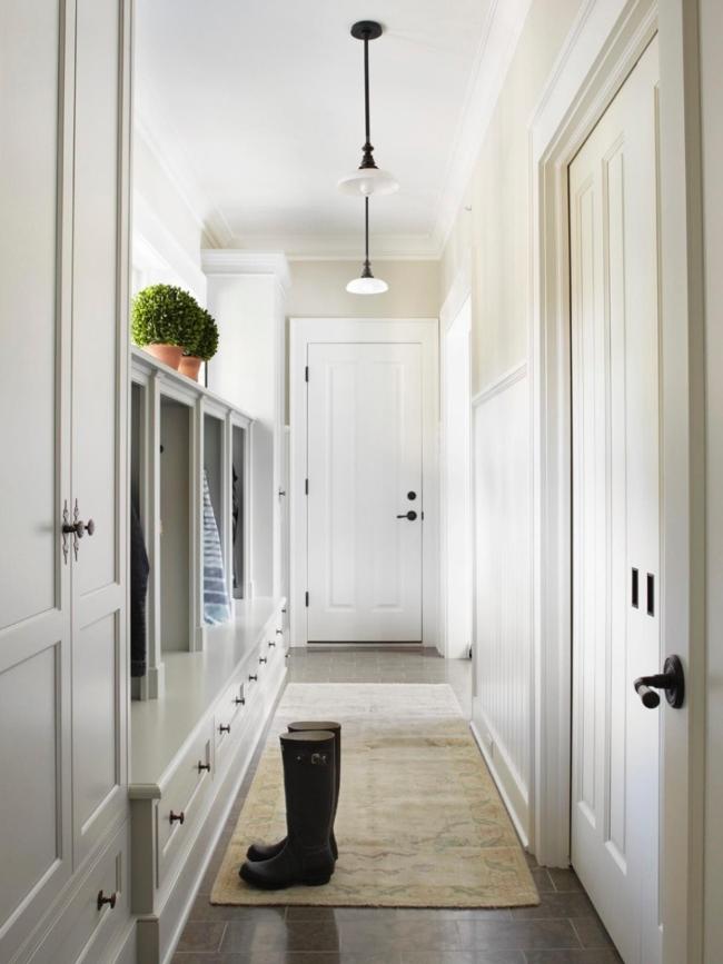 korytarz wejściowy amerykański dom mudroom inspiracje projekt 11
