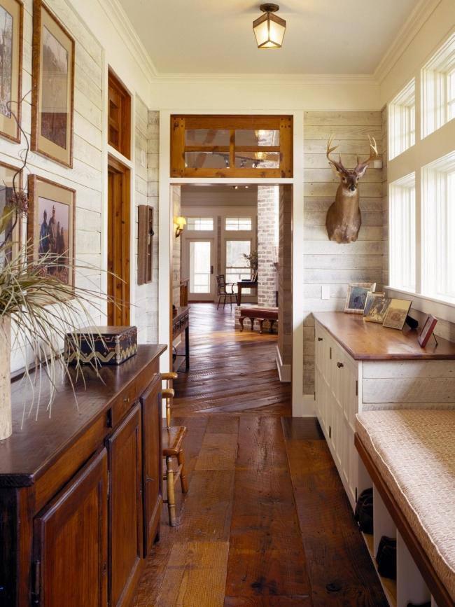 korytarz wejściowy amerykański dom mudroom inspiracje projekt 16