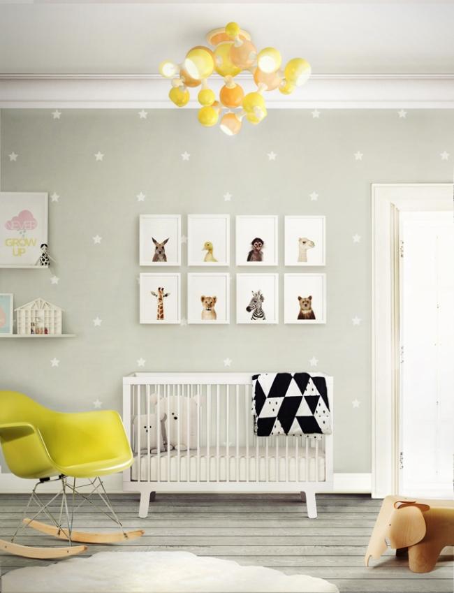 dekoracja pokoju dla niemowlaka inspiracje 15