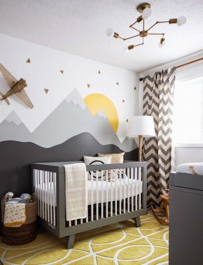dekoracja pokoju dla niemowlaka inspiracje 39