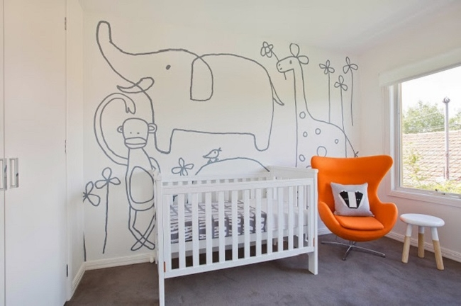 dekoracja pokoju dla niemowlaka inspiracje 53