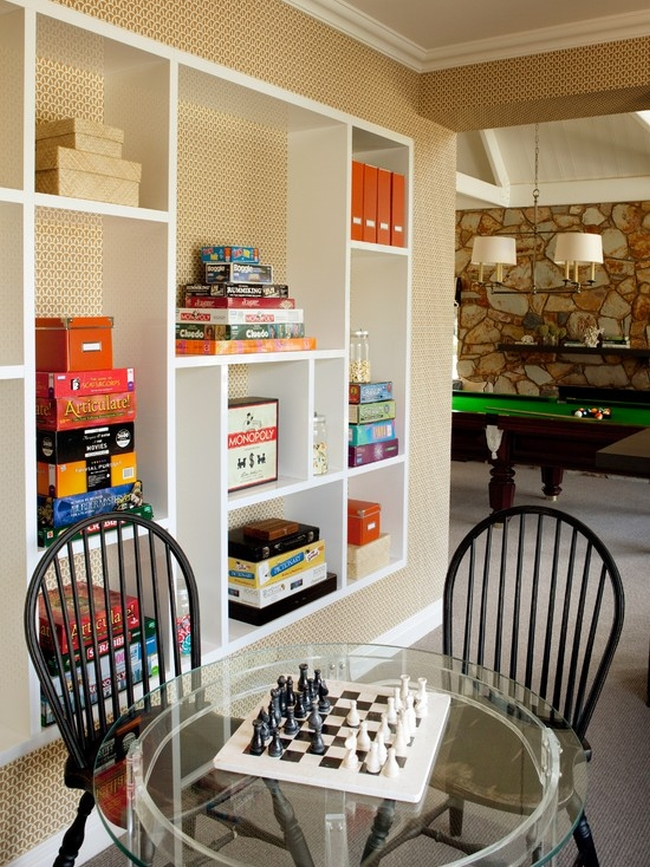 family room pokój rodzinny game room pokój gier amerykański dom amerykańskie wnętrze design 02