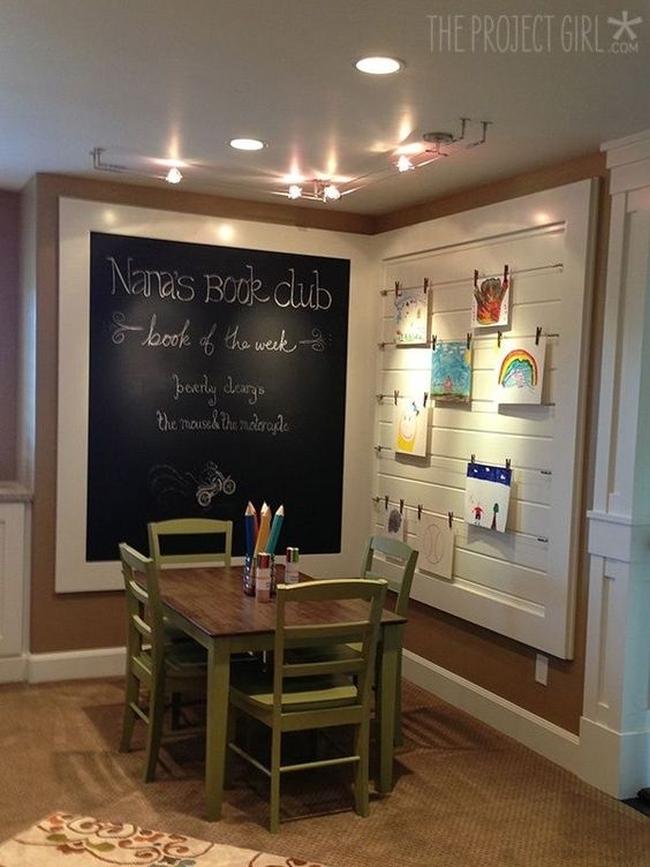 family room pokój rodzinny game room pokój gier amerykański dom amerykańskie wnętrze design 21