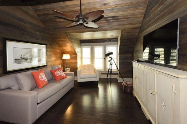 family room pokój rodzinny game room pokój gier amerykański dom amerykańskie wnętrze design 40