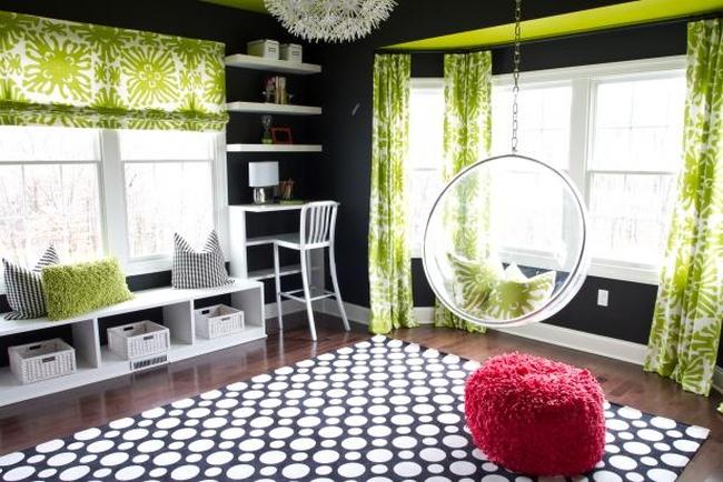 family room pokój rodzinny game room pokój gier amerykański dom amerykańskie wnętrze design 51