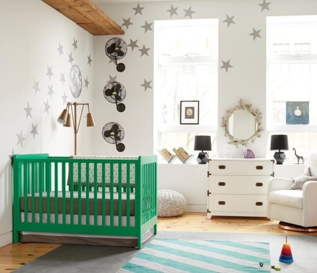 nowoczesny pok j dla niemowlaka inspiracje pokoju dziecka w stylu modern. Black Bedroom Furniture Sets. Home Design Ideas
