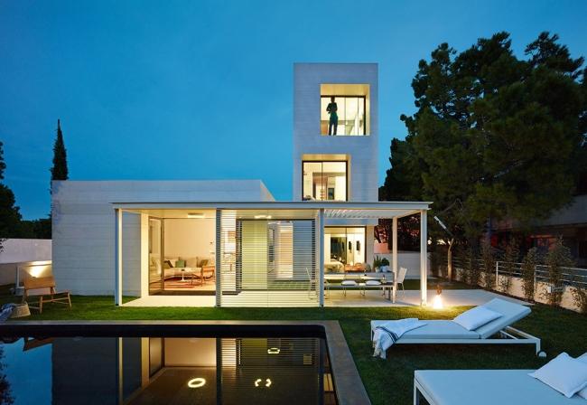 nowowczesny luksusowy dom igualada hiszpania projekt 03
