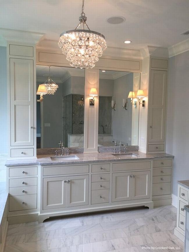 Amerykańska łazienka w stylu amerykańskim amerykański dom i wnętrze inspiracje pomysły jak urządzić łazienkę w domu 01