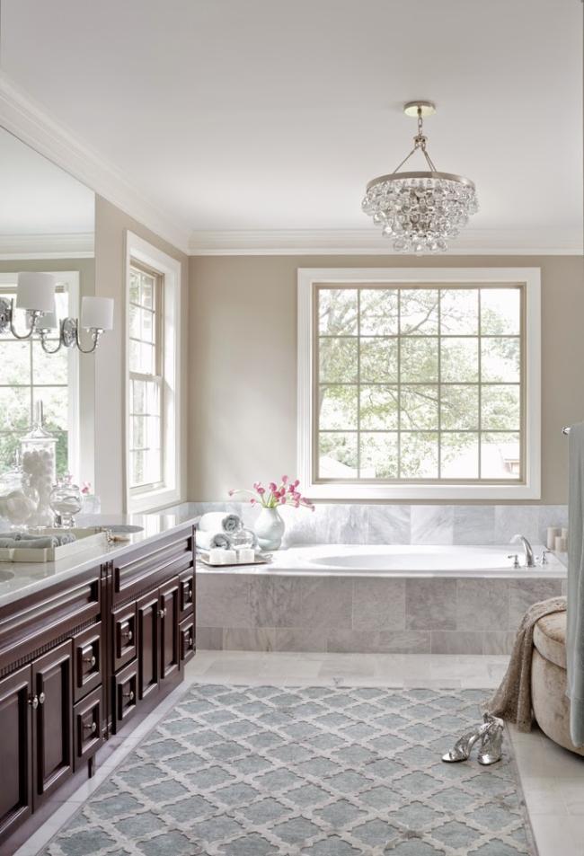Amerykańska łazienka w stylu amerykańskim amerykański dom i wnętrze inspiracje pomysły jak urządzić łazienkę w domu 07