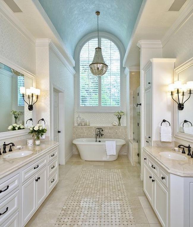 Amerykańska łazienka w stylu amerykańskim amerykański dom i wnętrze inspiracje pomysły jak urządzić łazienkę w domu 25