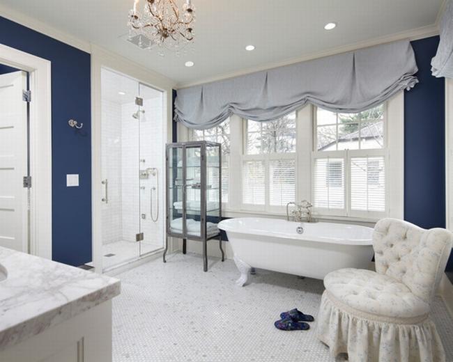 Amerykańska łazienka w stylu amerykańskim amerykański dom i wnętrze inspiracje pomysły jak urządzić łazienkę w domu 38