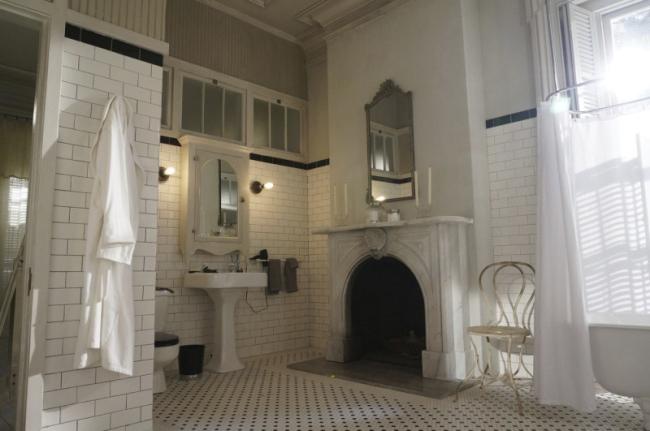 Amerykańska łazienka w stylu amerykańskim amerykański dom i wnętrze inspiracje pomysły jak urządzić łazienkę w domu 39