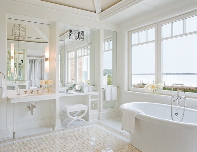 Amerykańska łazienka w stylu amerykańskim amerykański dom i wnętrze inspiracje pomysły jak urządzić łazienkę w domu 54