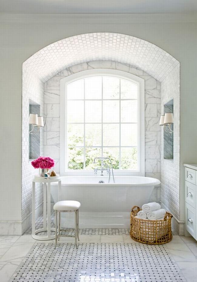 Amerykańska łazienka w stylu amerykańskim amerykański dom i wnętrze inspiracje pomysły jak urządzić łazienkę w domu 57