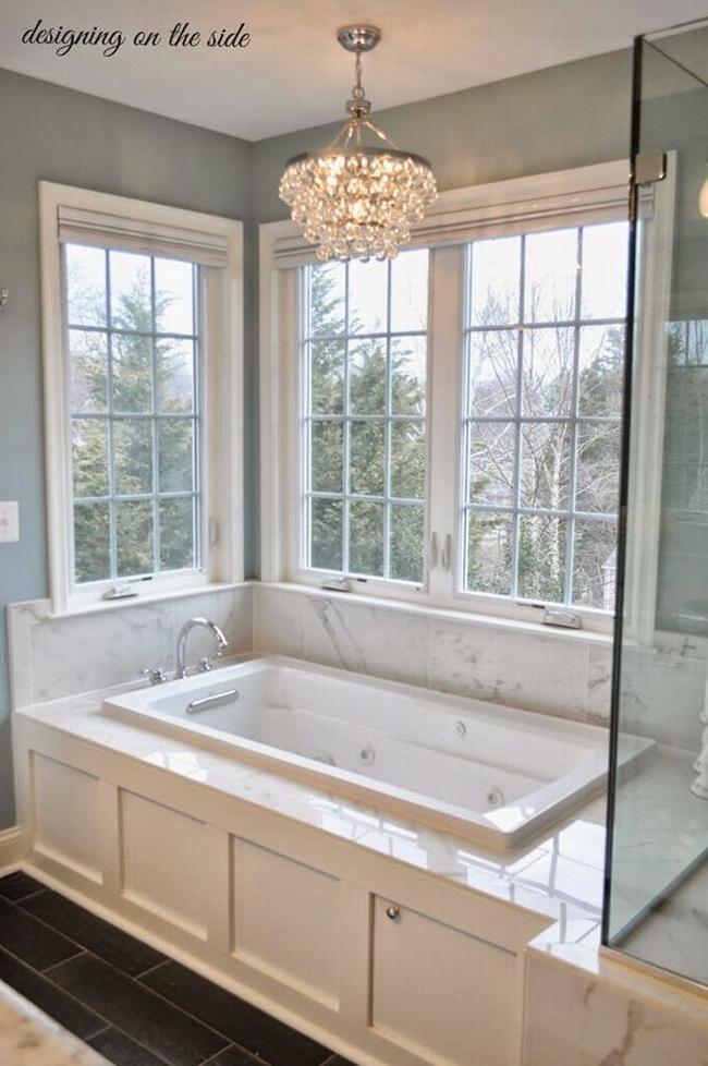 Amerykańska łazienka w stylu amerykańskim amerykański dom i wnętrze inspiracje pomysły jak urządzić łazienkę w domu 59