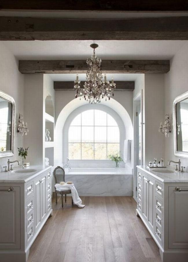 Amerykańska łazienka w stylu amerykańskim amerykański dom i wnętrze inspiracje pomysły jak urządzić łazienkę w domu 60