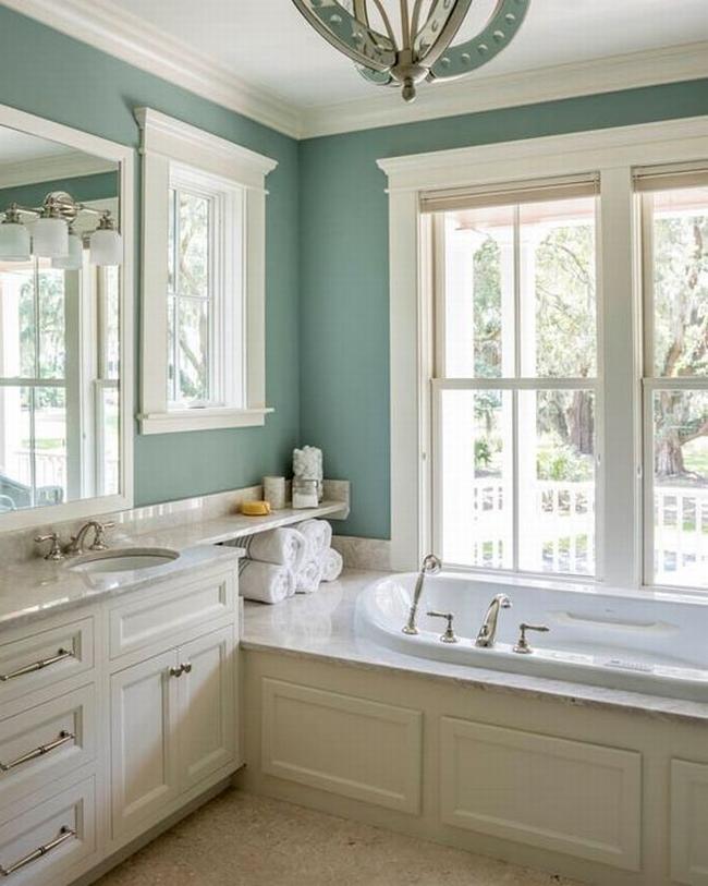 Amerykańska łazienka w stylu amerykańskim amerykański dom i wnętrze inspiracje pomysły jak urządzić łazienkę w domu 67