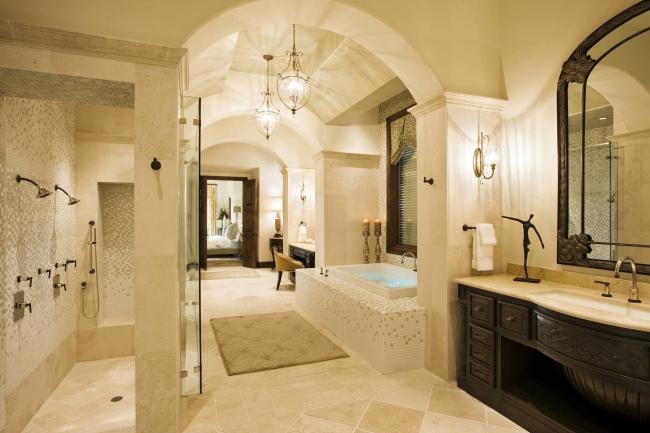 Amerykańska łazienka w stylu amerykańskim amerykański dom i wnętrze inspiracje pomysły jak urządzić łazienkę w domu 82