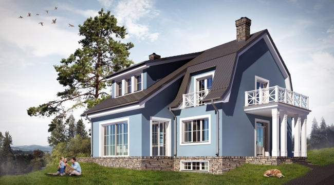 Dom-amerykański-projekt-indywidualny-biuro-architektoniczne-projektowanie-1