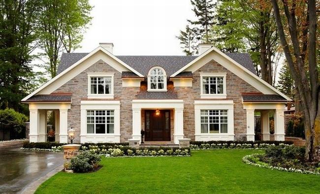 Elewacja domu ameryka skiego dom ameryka ski willa for Gorgeous houses pictures