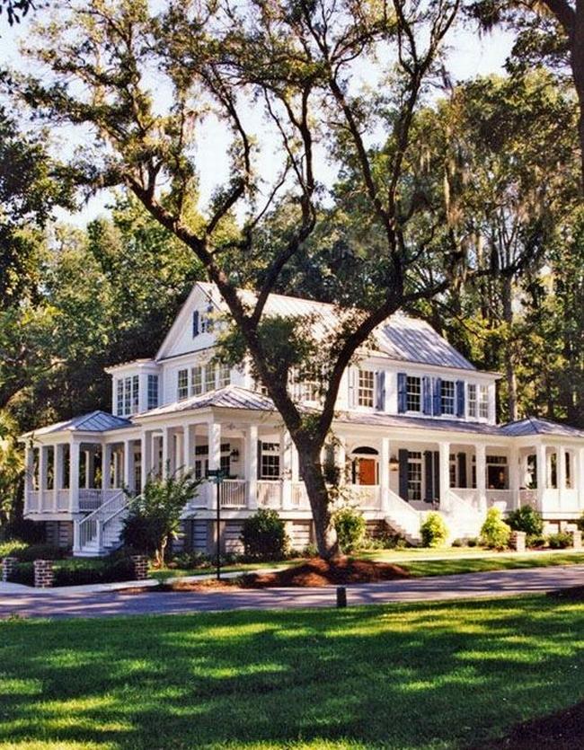 elewacja domu amerykańskiego dom amerykański willa amerykańska rezydencja projekt design elewacja podjazd pod dom inspiracje 47