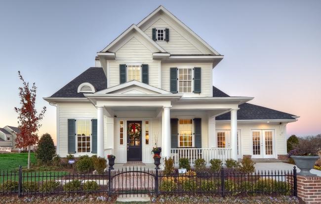 elewacja domu amerykańskiego dom amerykański willa amerykańska rezydencja projekt design elewacja podjazd pod dom inspiracje 52