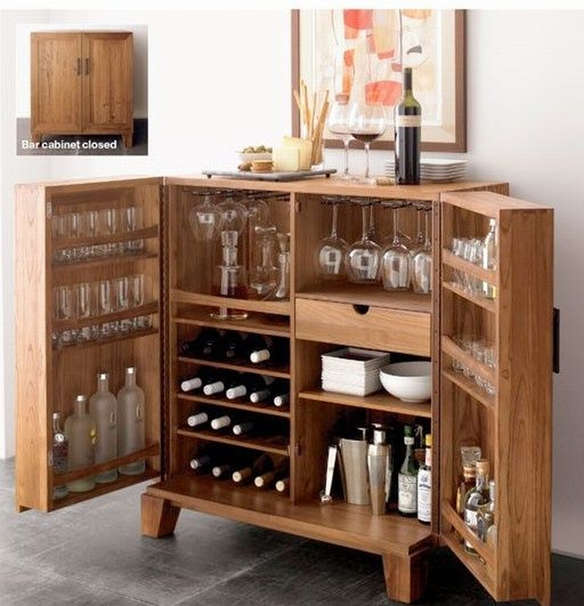 Miejsce na alkohol w domu barek szafka minibar 50 for How to build a mini bar cabinet