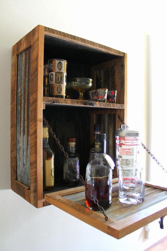 miejsce na alkohol mini barek bar gdzie w domu umieścić alkohol inspiracje pomysły rozwiązania 18