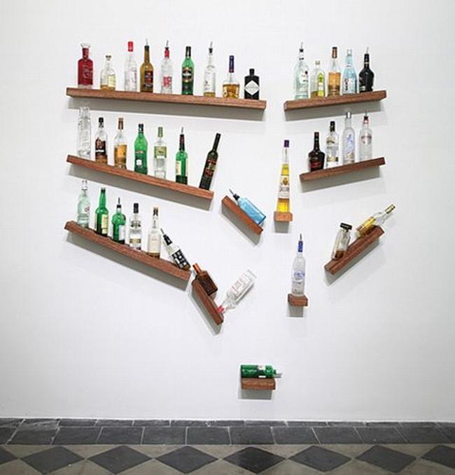 miejsce na alkohol mini barek bar gdzie w domu umieścić alkohol inspiracje pomysły rozwiązania 27