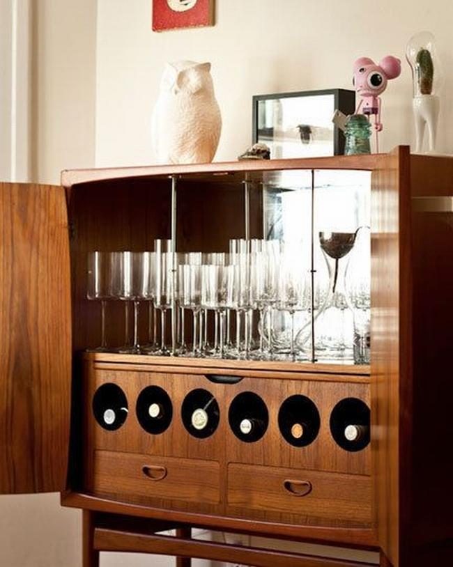 miejsce na alkohol mini barek bar gdzie w domu umieścić alkohol inspiracje pomysły rozwiązania 31