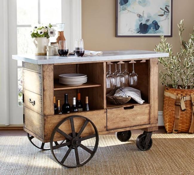 Zaawansowane Miejsce na alkohol w domu-barek, szafka, minibar? 50 inspiracji! HN74