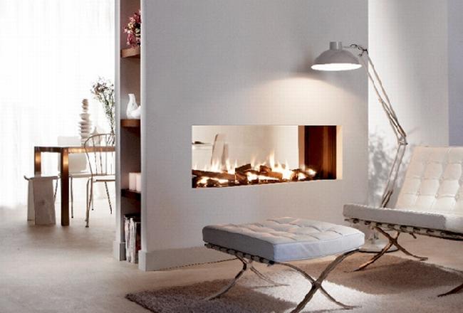 kominek dwustronny inspiracje wygląd kominek we wnętrzu komink w salonie 05