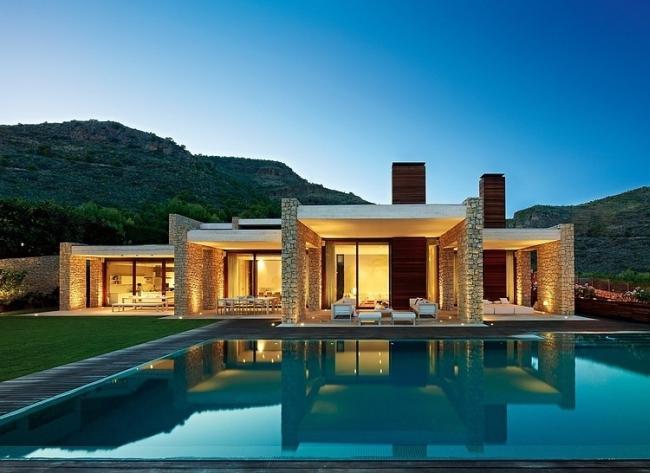 luksusowa willa marzeń wille marzeń dom w Hiszpanii inspiracje projekt nowoczesnego domu 01
