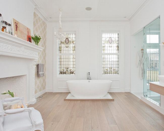 romantyczna łazienka w stylu francuskim łazienka glamour zdobiona łazienka delikatna łazienka bogata łazienka inspiracje 01
