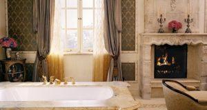 Pokój kąpielowy w królewskim stylu.